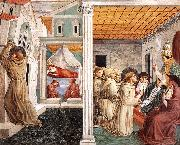Scenes from the Life of St Francis (Scene 5, north wall) g GOZZOLI, Benozzo